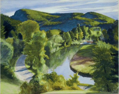 """Edward Hopper, """"First Branch of the White River, Vermont"""", watercolor"""