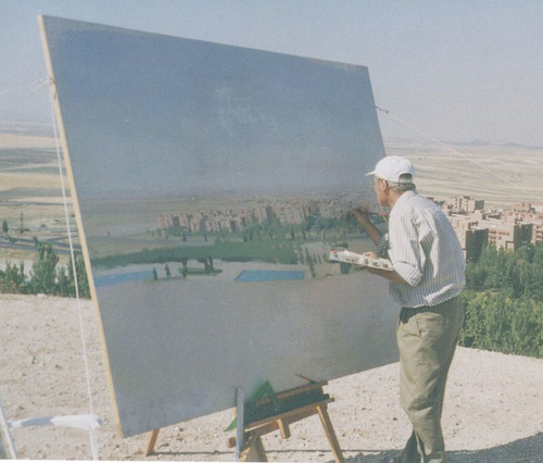Antonio Lopez Garcia painting in Madrid.