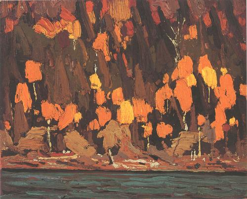 """Cedar and Pines"", 8"" x 10"", oil on wood panel"