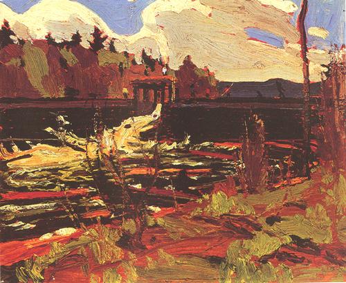 """Tea Lake Dam"", 8"" x 10"", oil on wooden panel"