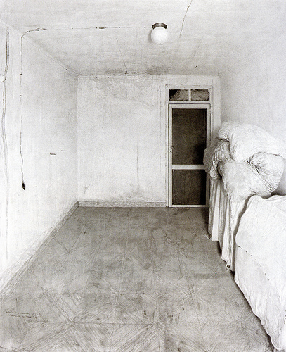"Antonio Lopez-Garcia, ""Room in Tomelloso"", graphite on paper"