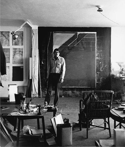 Richard Diebenkorn's studio