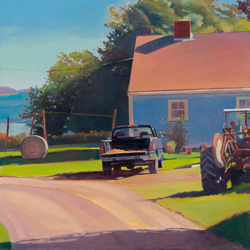 "Susan Abbott, ""Farm by the Inlet, Maine"""