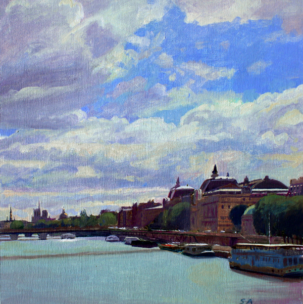 "Susan Abbott, ""The Seine at Musee D'Orsay"""