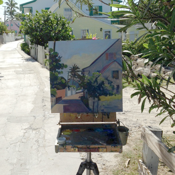 Painting in Hope Town, Bahamas