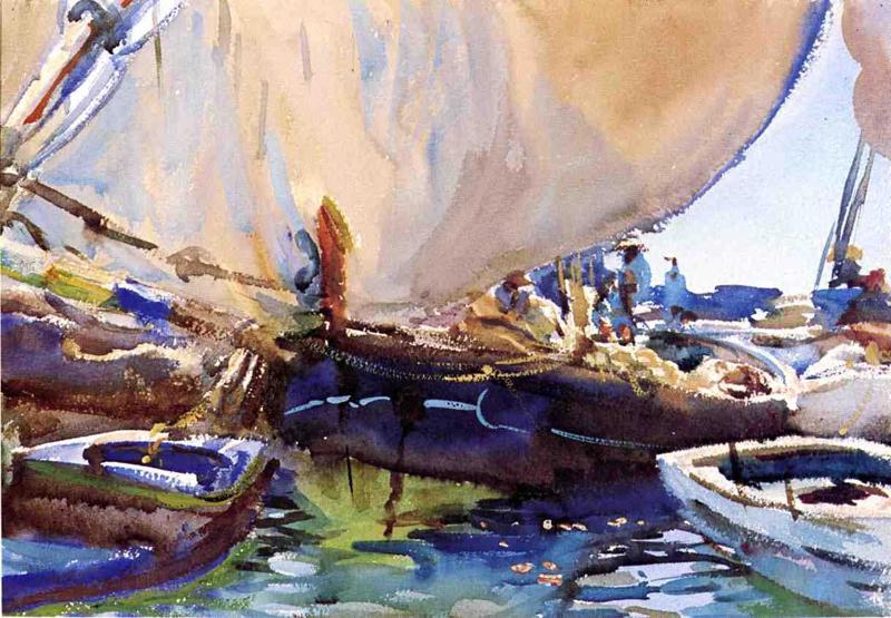 """John Singer Sargent, """"Melon Boats"""""""