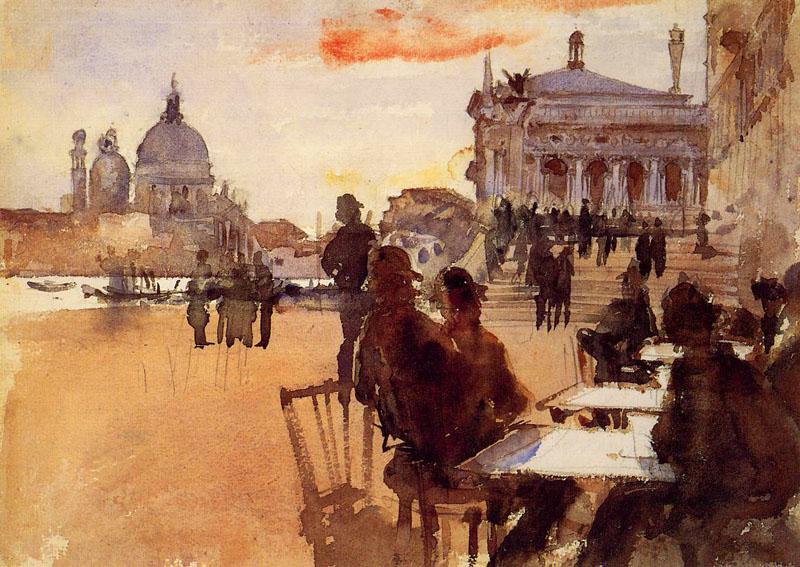 """John Singer Sargent, """"Cafe, Venice"""""""