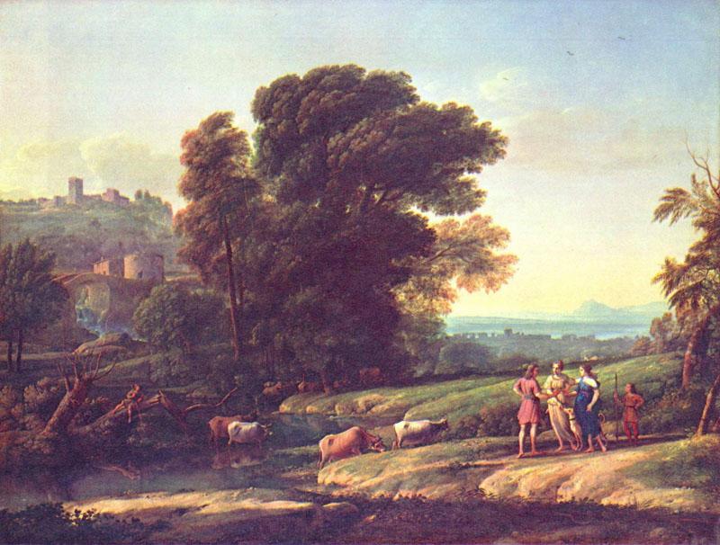 """Claude Lorrain, """"Landscape with Cephalus"""""""