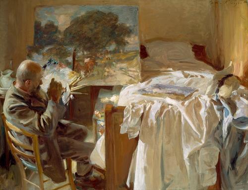"John Singer Sargent,. ""An Artist in his Studio"""
