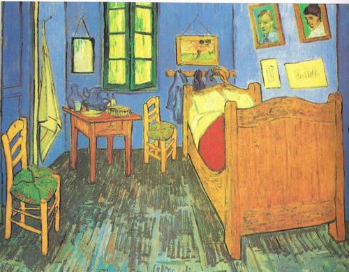 "Vincent Van Gogh, ""Bedroom at Arles"""