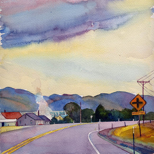"watercolor, 10"" x 10"", Private Collection"
