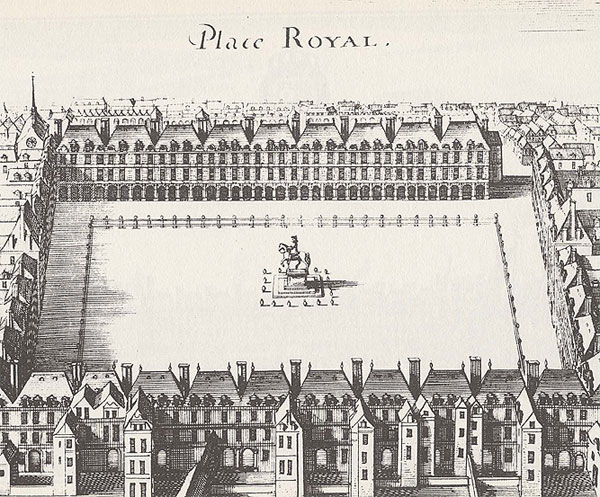 A design for the Place Royal from the 1600's