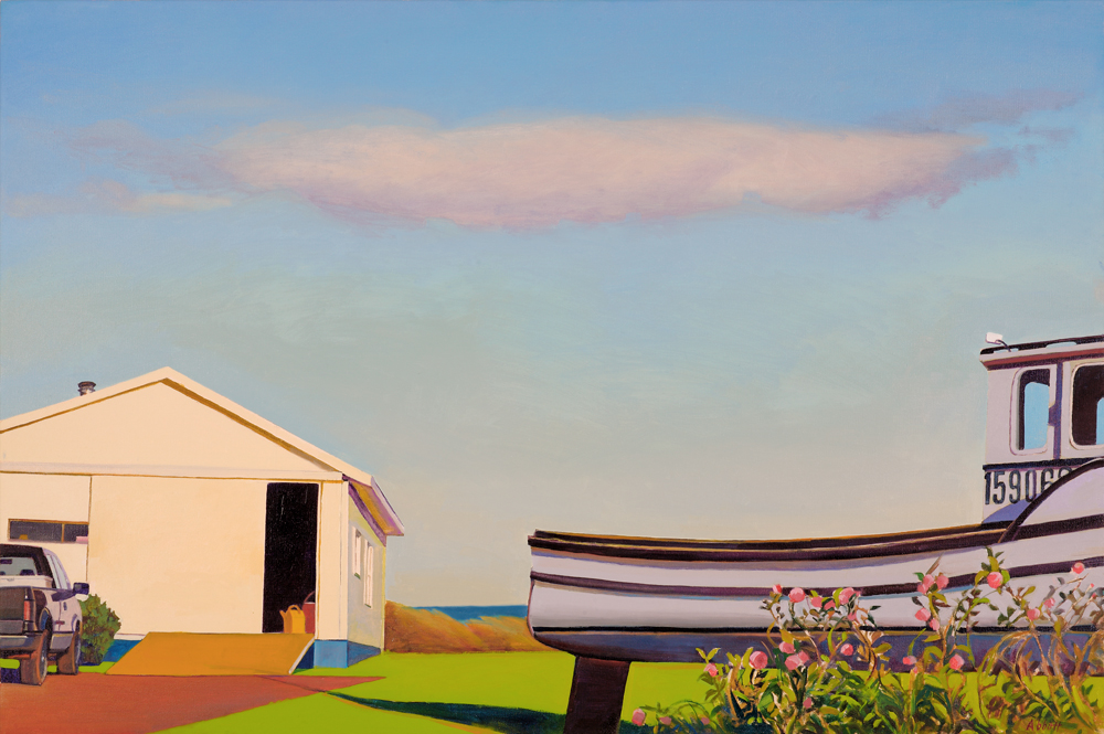 """Lobsterman's Yard"", 24"" x 36"", oil on linen"
