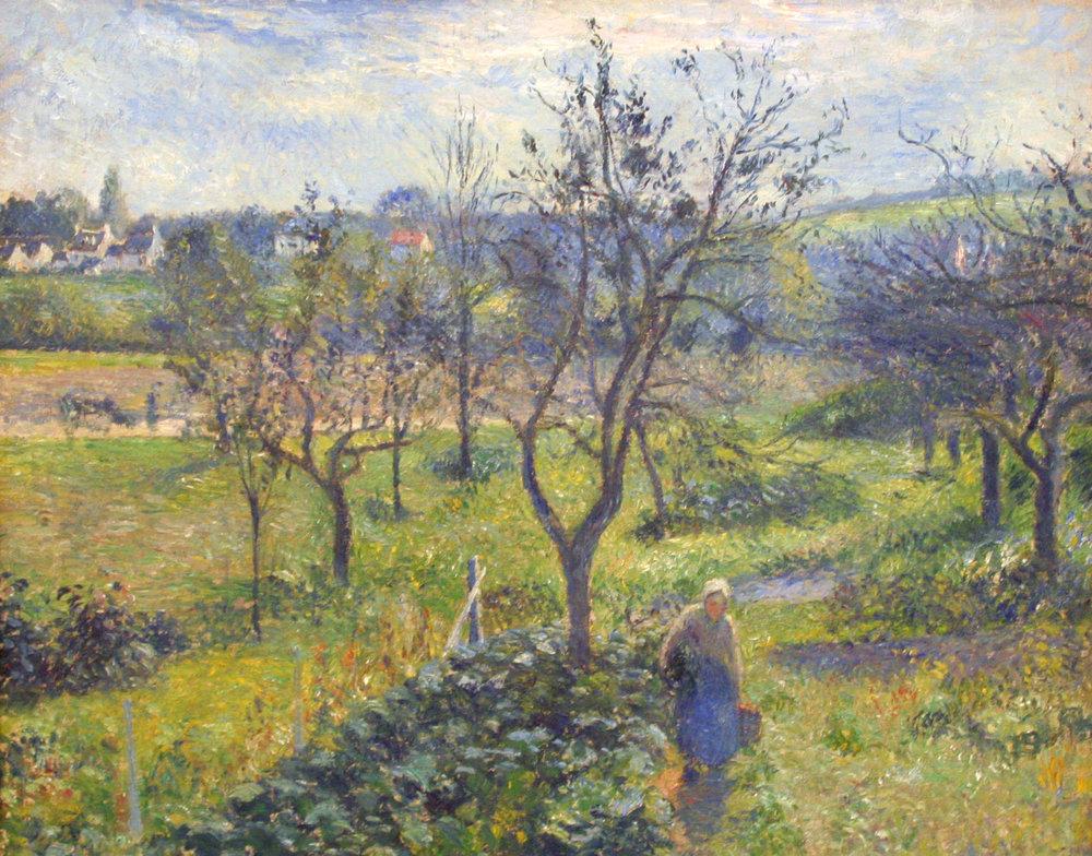 """""""Garden at Valhermeil"""", Camille Pissarro"""