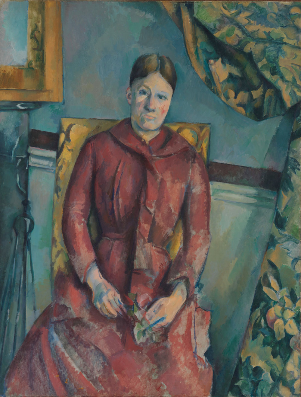 """Madame Cezanne in a Red Dress"""
