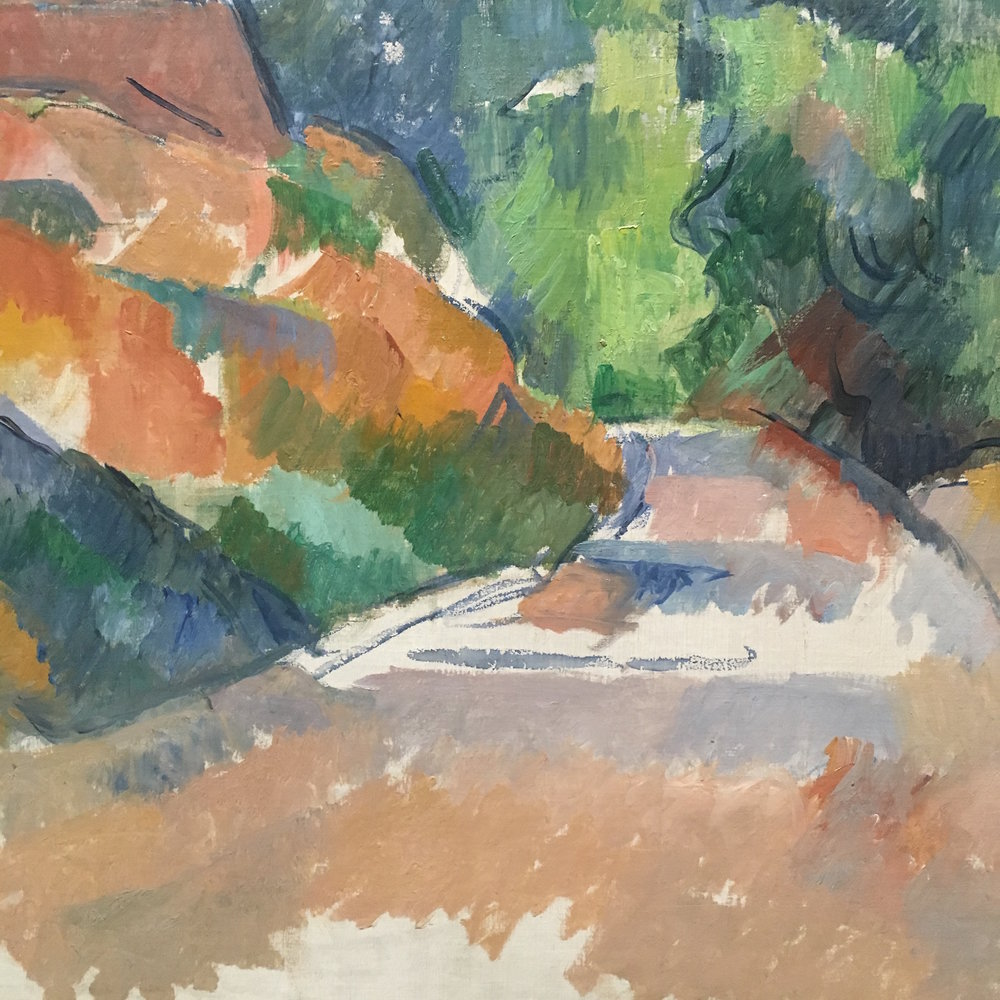 "Detail of ""A Bend in the Road"", one of Cezanne's last paintings."