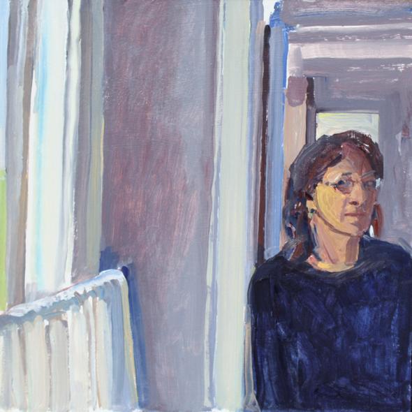 "Susan Abbott, ""Self Portrait by Bathroom Window"""
