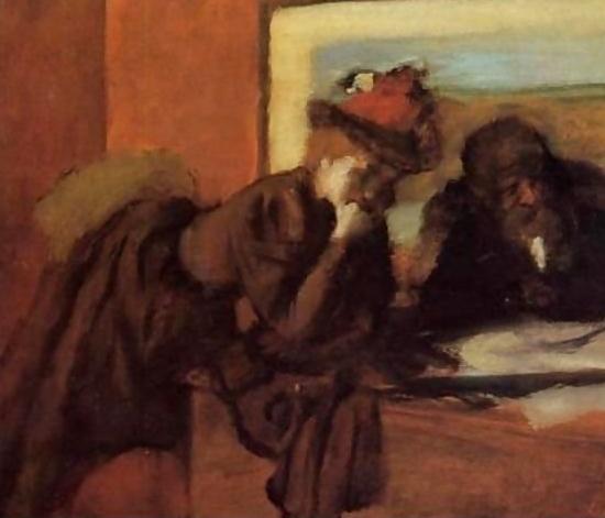 "Edgar Degas, ""The Conversation"", oil on canvas"