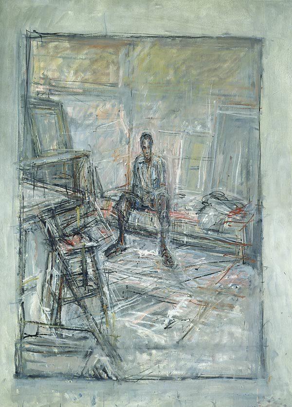 """Albert Giacometti, """"Figure in Interior"""""""