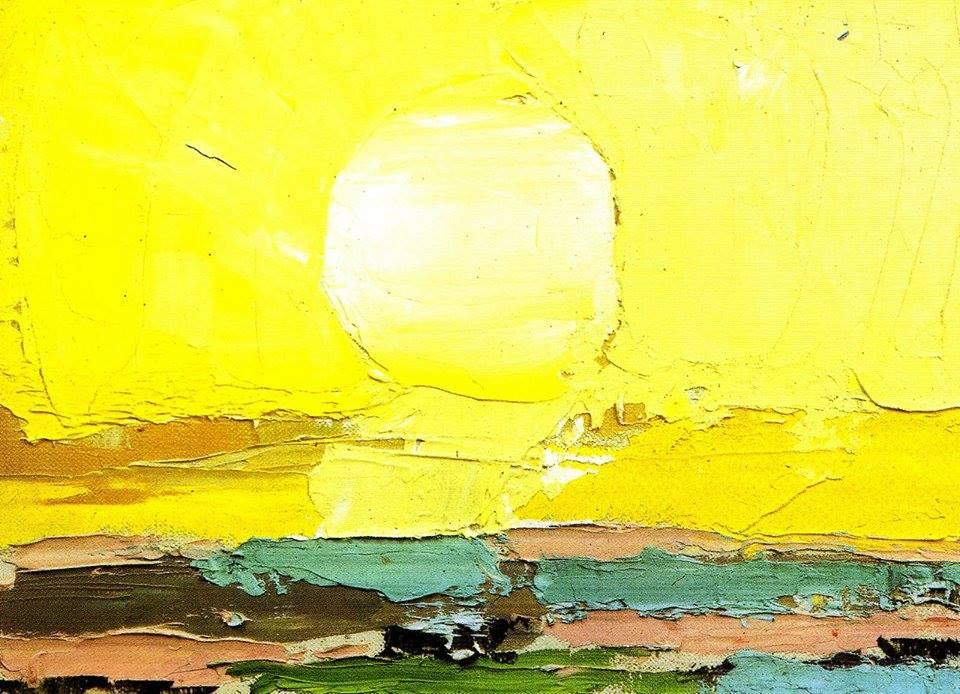 """Nicholas de Stael, """"Landscape by the Sea"""", oil on canvas"""