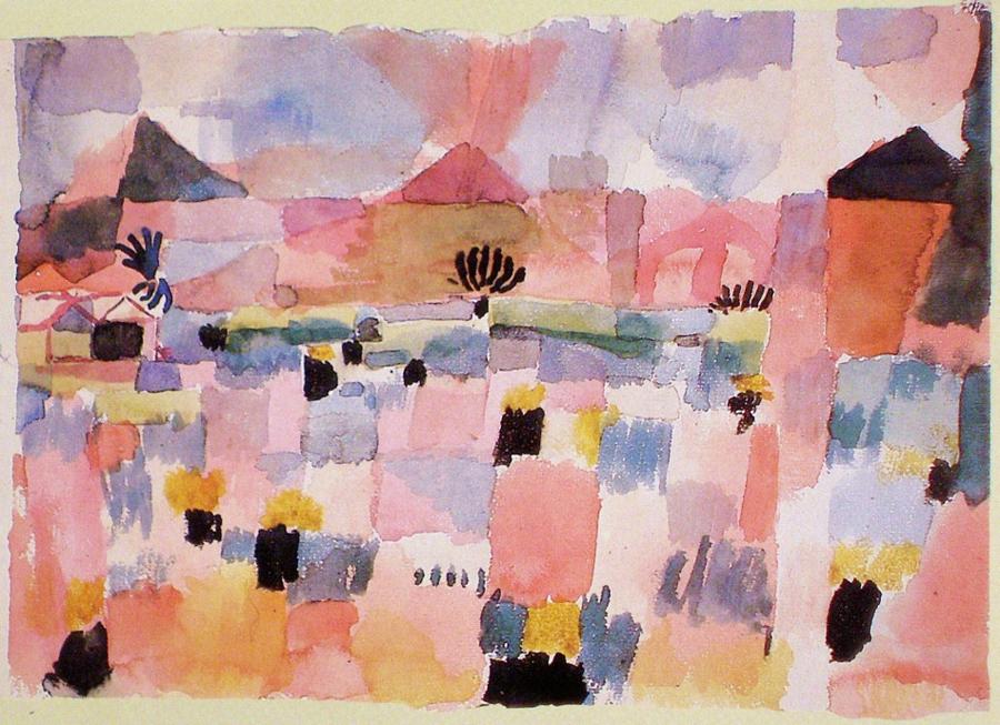 """Paul Klee, """"St. German, near Tunis"""", watercolor"""