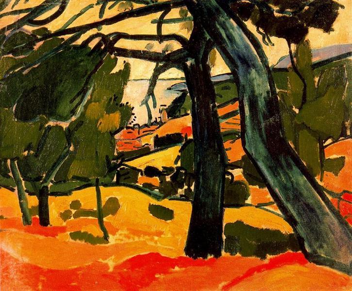 "Andre Derain, ""Landscape"", oil on canvas"