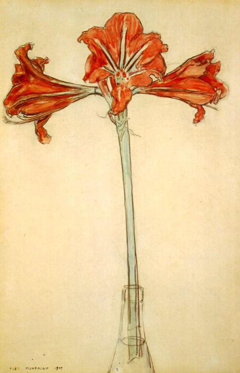 "Piet Mondrian, ""Amaryllis"""