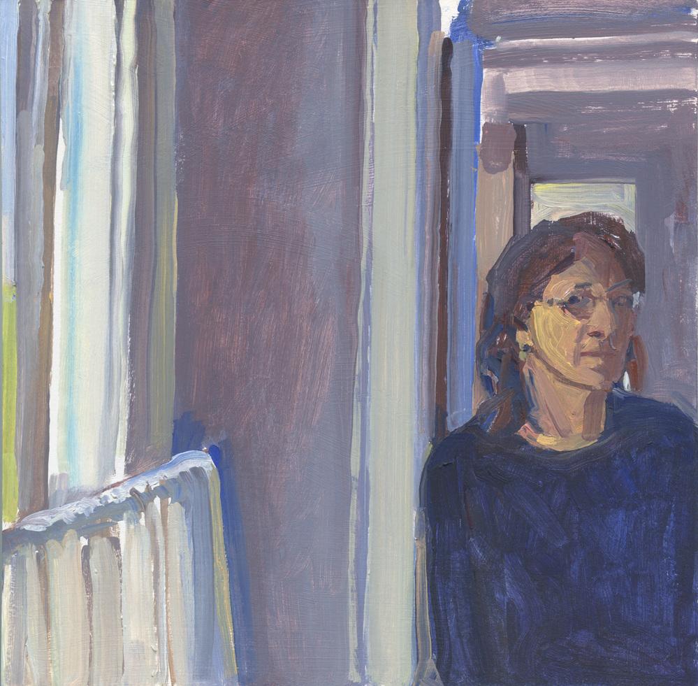 """Susan Abbott, """"Self Portrait by Window"""""""