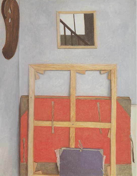 """Avigdor Arikha, """"Red and Blue Portfolios"""""""