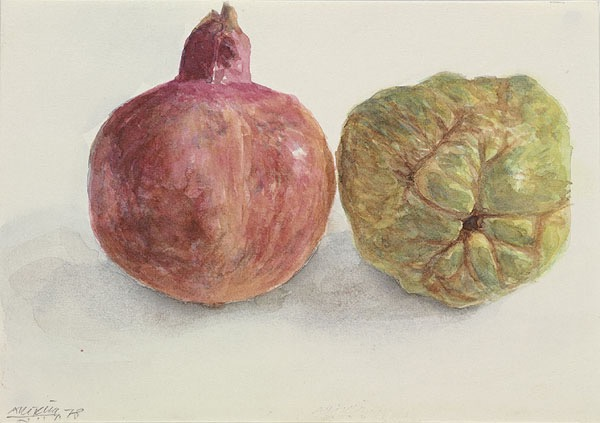 "Avigdor Arikha, ""Pomegranate and Quince"""