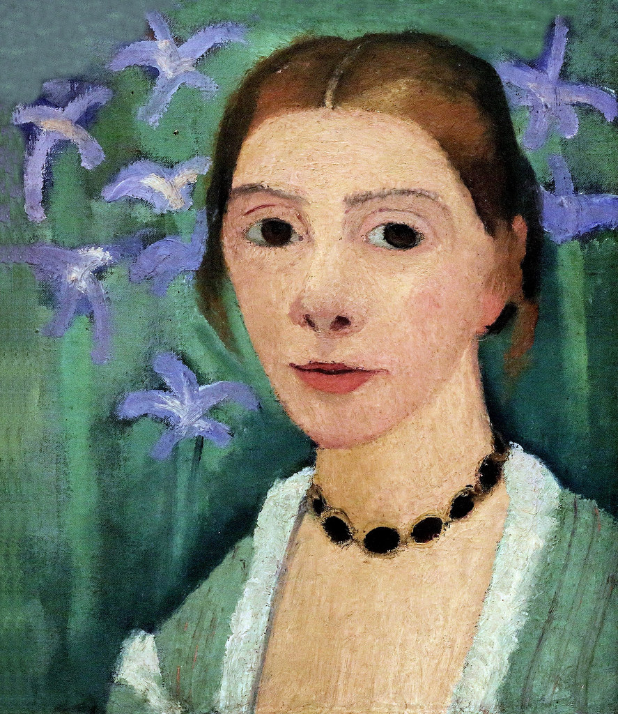 "Paula Modersohn-Becker, ""Self Portrait with Flowers"""