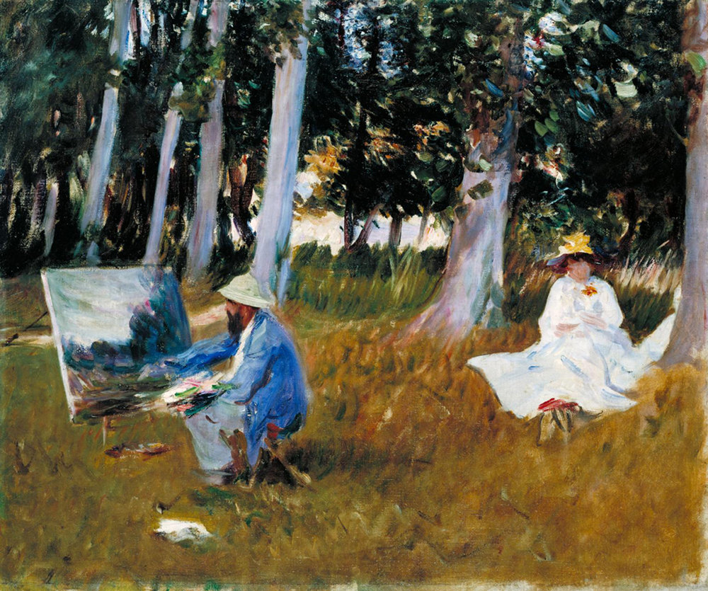 "John Singer Sargent, ""Claude Monet Painting by the Edge of a Wood"""