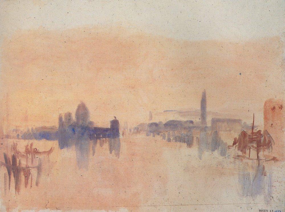 "J.M.W. Turner, ""Venice"", watercolor"