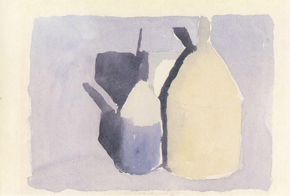 """Giorgio Morandi, """"Study"""", watercolor"""