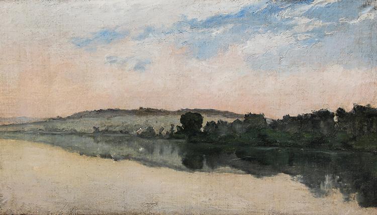 "Richard Parkes Bonington, ""River Scene"", watercolor"