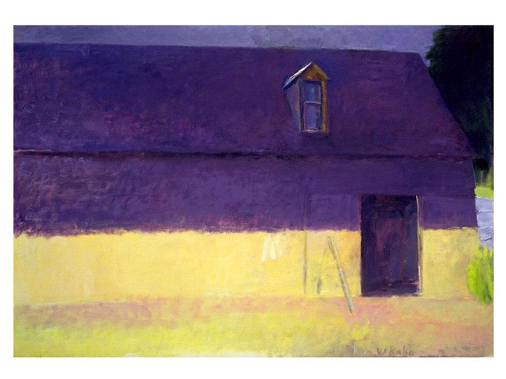 """Wolf Kahn, """"Barn"""", oil on canvas"""