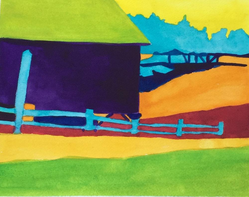"""Beth Ayres, """"Color Value Study"""", watercolor"""