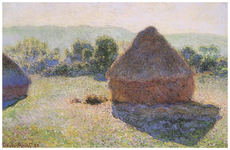 """Claude Monet, """"Haystacks at Noon"""", oil on canvas"""