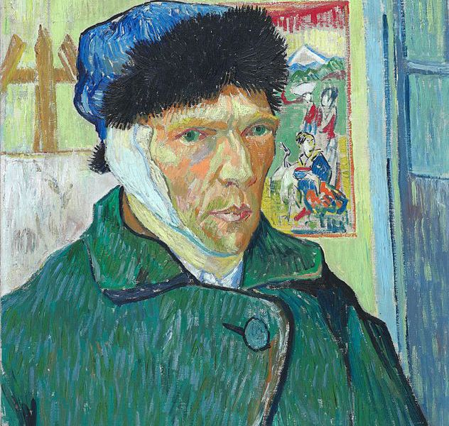 "Vincent van Gogh, ""Self Portrait with Bandaged Ear"", oil on canvas"
