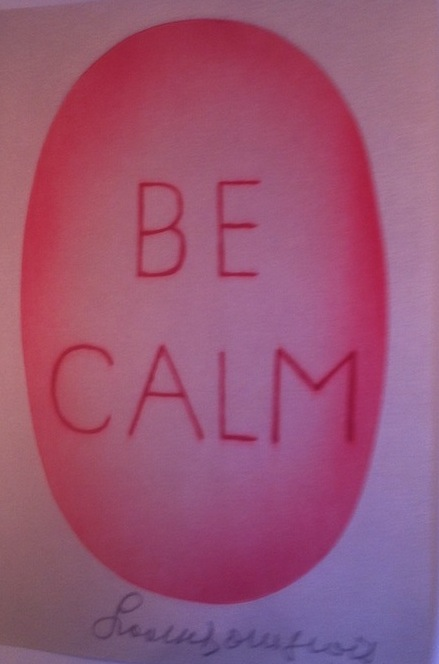 Be Calm  Poster by Louise Bourgeois at LA-MOCA Store.  Photo: Lynne Azpeitia