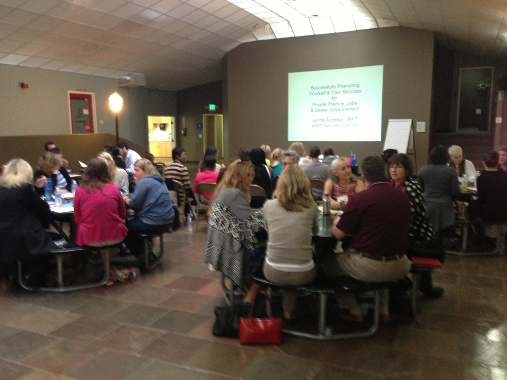 Presenting Yourself & Your Services Workshop at Nebraska Studios, Santa Monica, California  Photo: Lynne Azpeitia