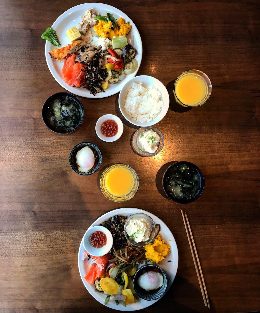 Sampling Japanese breakfast spreads