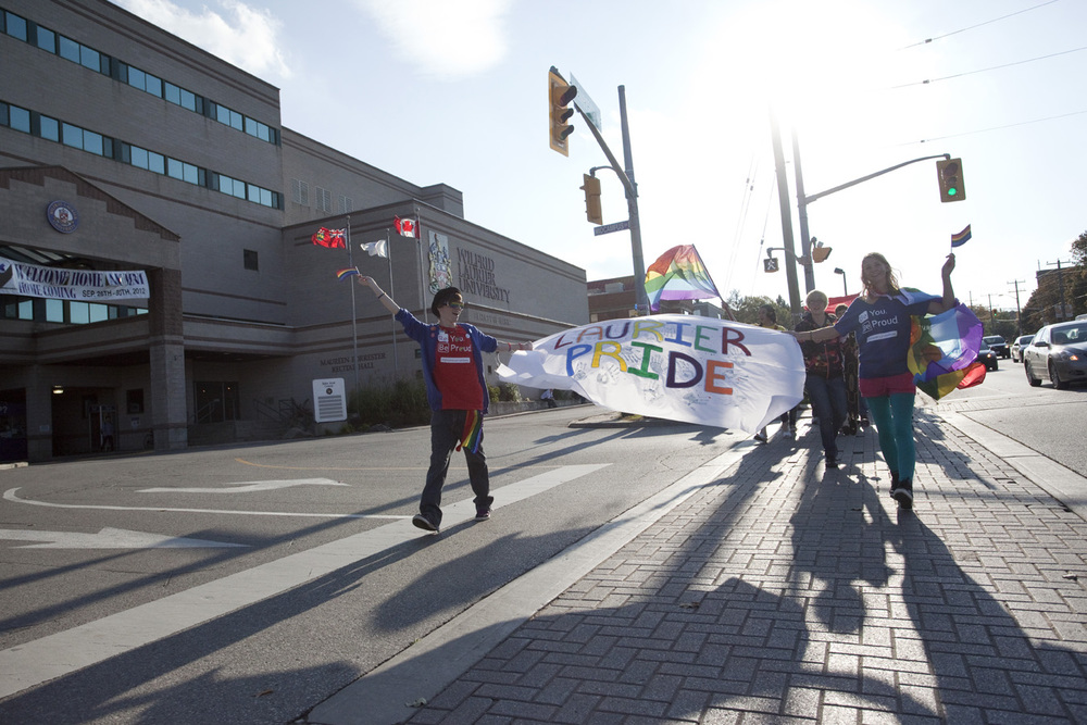 Wilfrid Laurier University hosts its first ever Pride Parade, October 4, 2012.​
