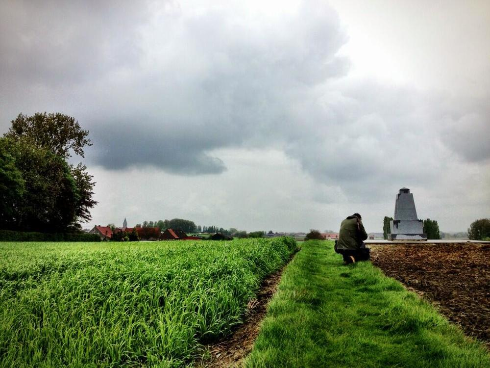 At the 85th Highlanders memorial in Passchendaele. Photo: Matt Symes