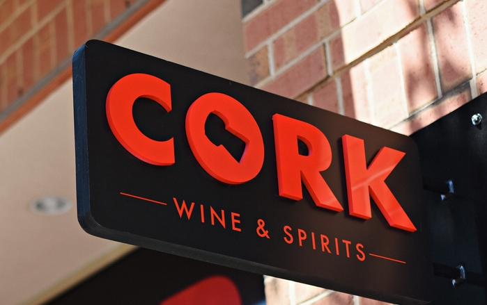 Cork Wines Hoboken Sign