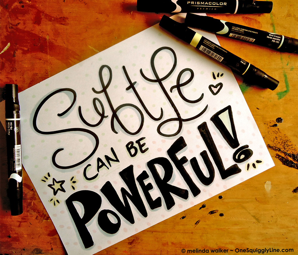 Visual Thinking - Subtle can be powerful! - Melinda Walker - OneSquigglyLine