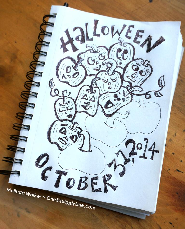 PumpkinDoodle_halloween_Milwaukee_MelindaWalker_OneSquigglyLine