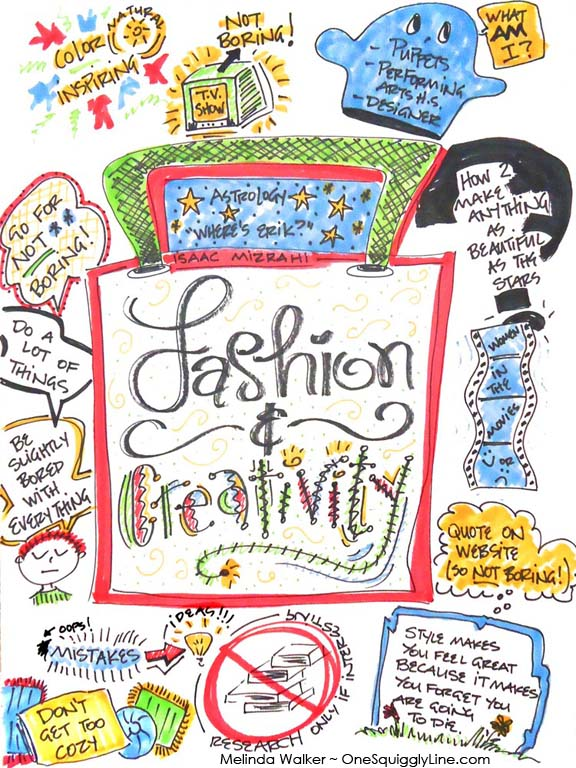 GraphicRecording_TEDTalk_IssacMizrahi_MelindaWalker_OneSquigglyLine