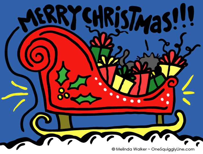 VisualThinking_Creative_Letter_Design_Christmas_Sled_Surprise_MelindaWalker_OneSquigglyLine