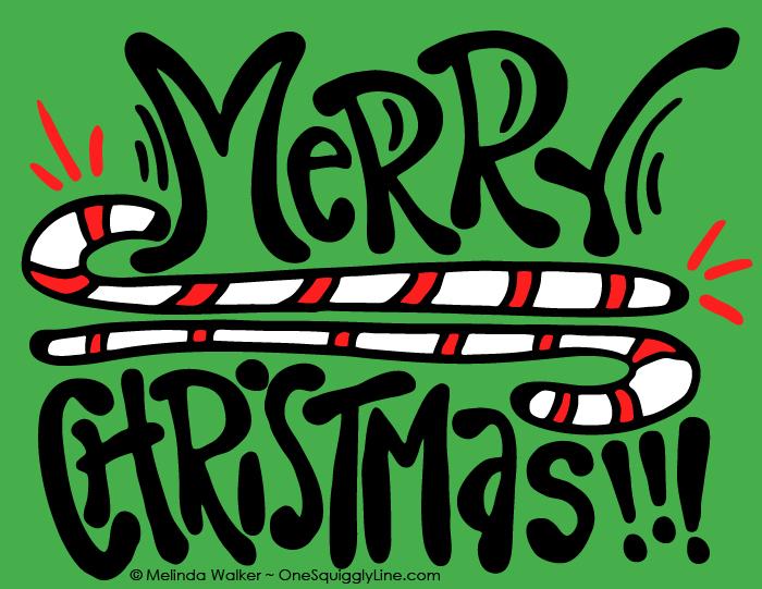 VisualThinking_Creative_Letter_Design_Christmas_CandyCanes_MelindaWalker_OneSquigglyLine